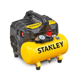 Stanley DST 100/8/6 Ultra Sessiz ve Yağsız Hava Kompresörü 59 dB - 1.0 Hp - 750 W - 6 Litre - 8 Bar